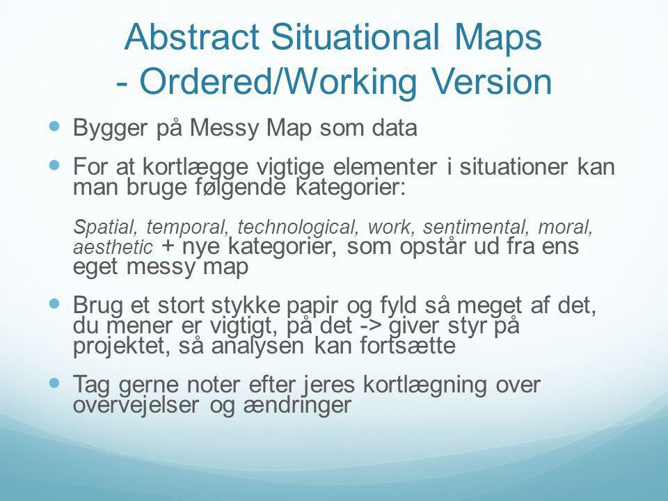 Abstract Situational Maps - Ordered/Working Version