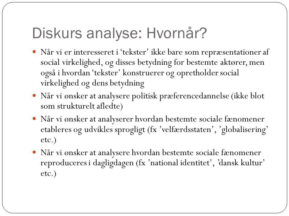 Diskurs analyse: Hvornår