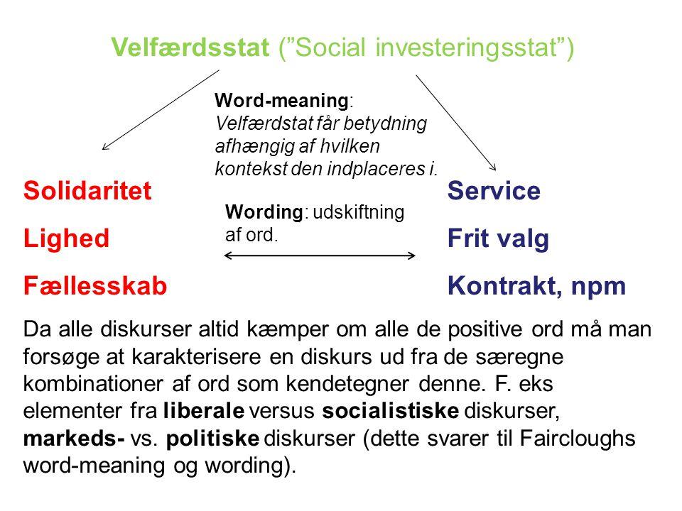 Velfærdsstat ( Social investeringsstat )