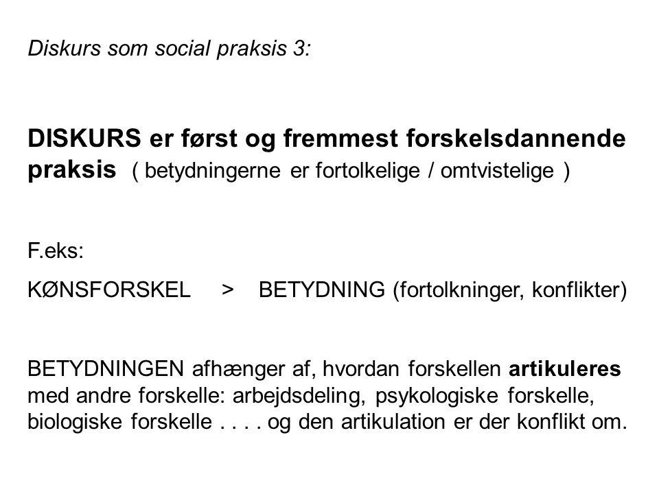 Diskurs som social praksis 3:
