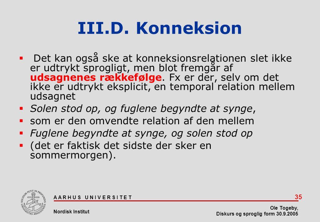III.D. Konneksion