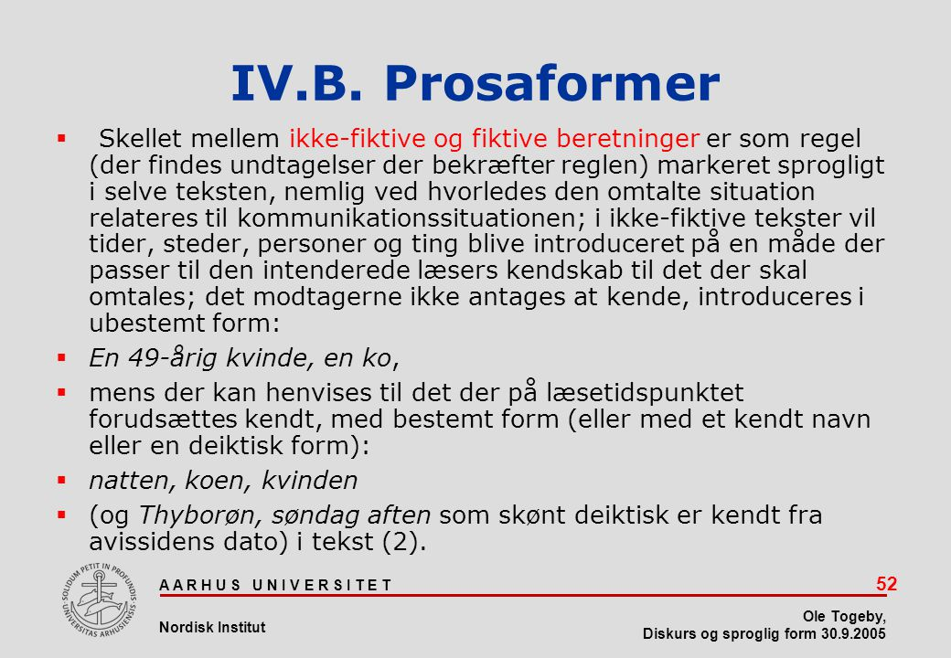 IV.B. Prosaformer