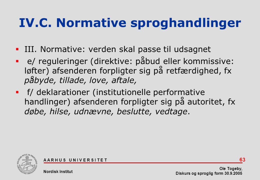 IV.C. Normative sproghandlinger