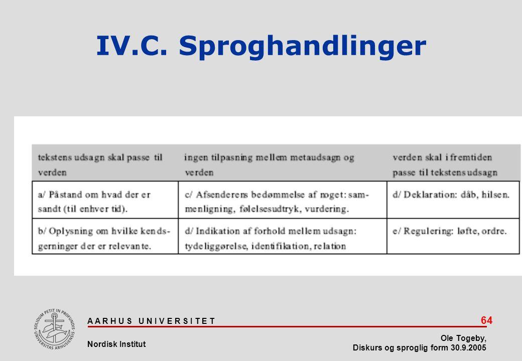 IV.C. Sproghandlinger