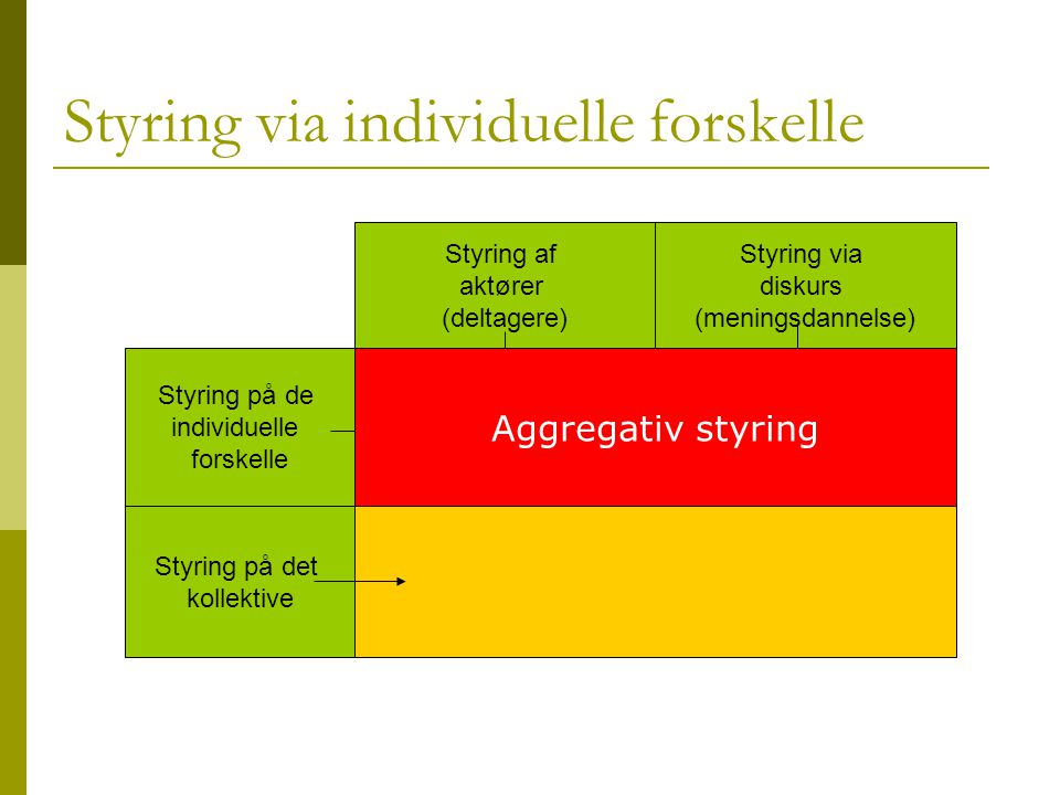 Styring via individuelle forskelle
