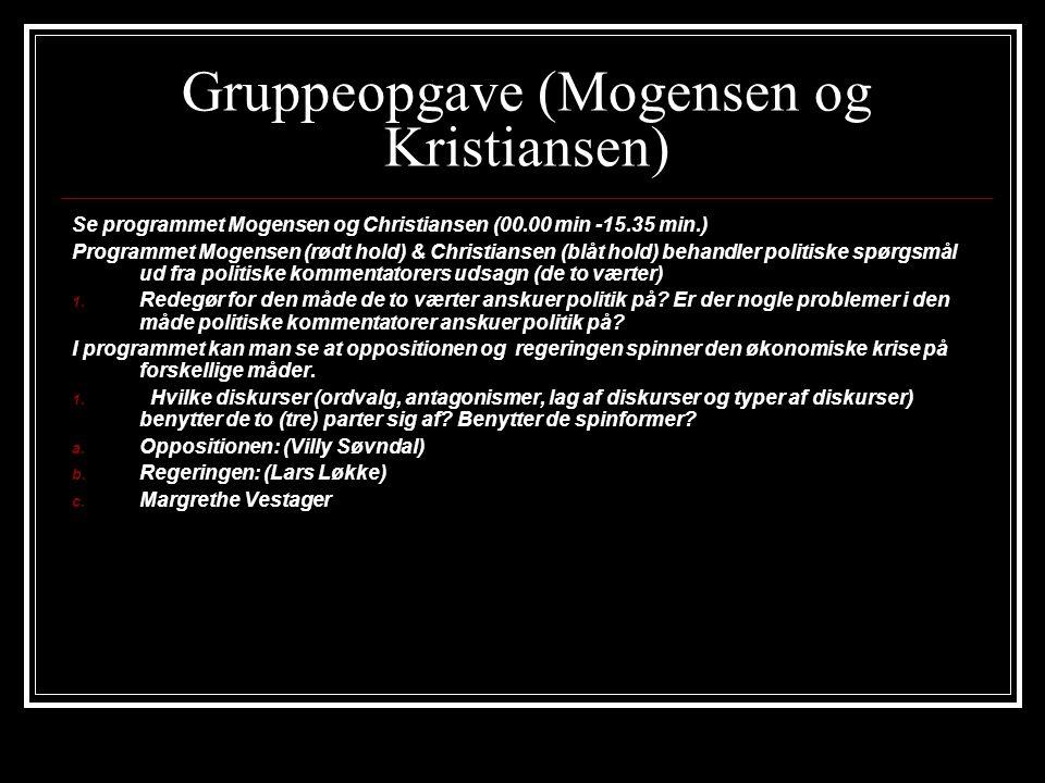 Gruppeopgave (Mogensen og Kristiansen)