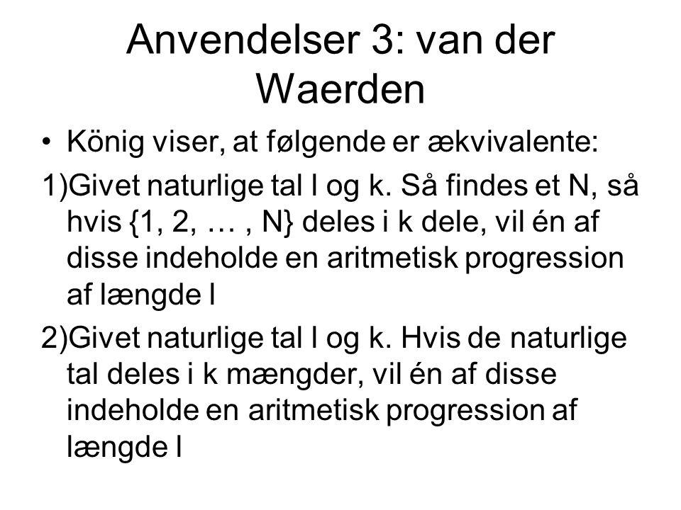 Anvendelser 3: van der Waerden