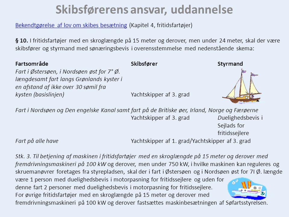 Skibsførerens ansvar, uddannelse