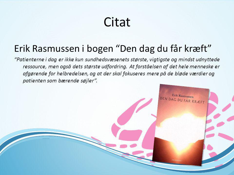 Citat Erik Rasmussen i bogen Den dag du får kræft