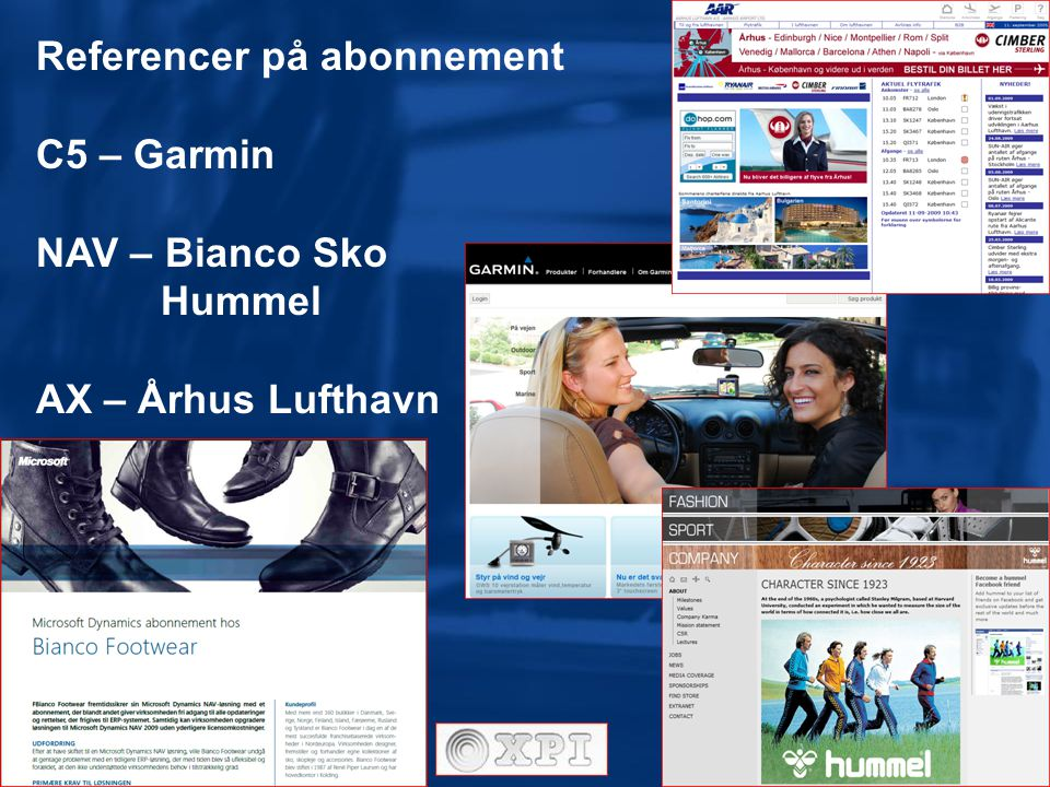 Referencer på abonnement C5 – Garmin NAV – Bianco Sko Hummel