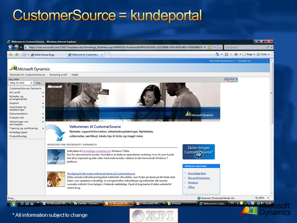 CustomerSource = kundeportal