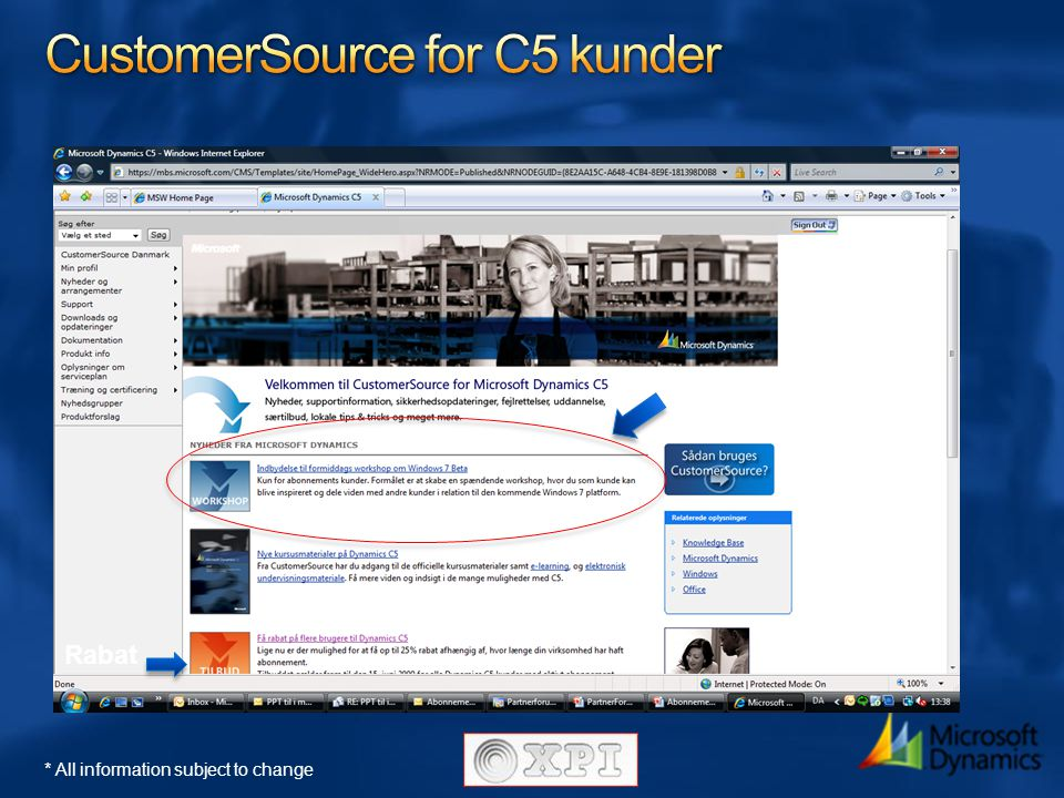 CustomerSource for C5 kunder