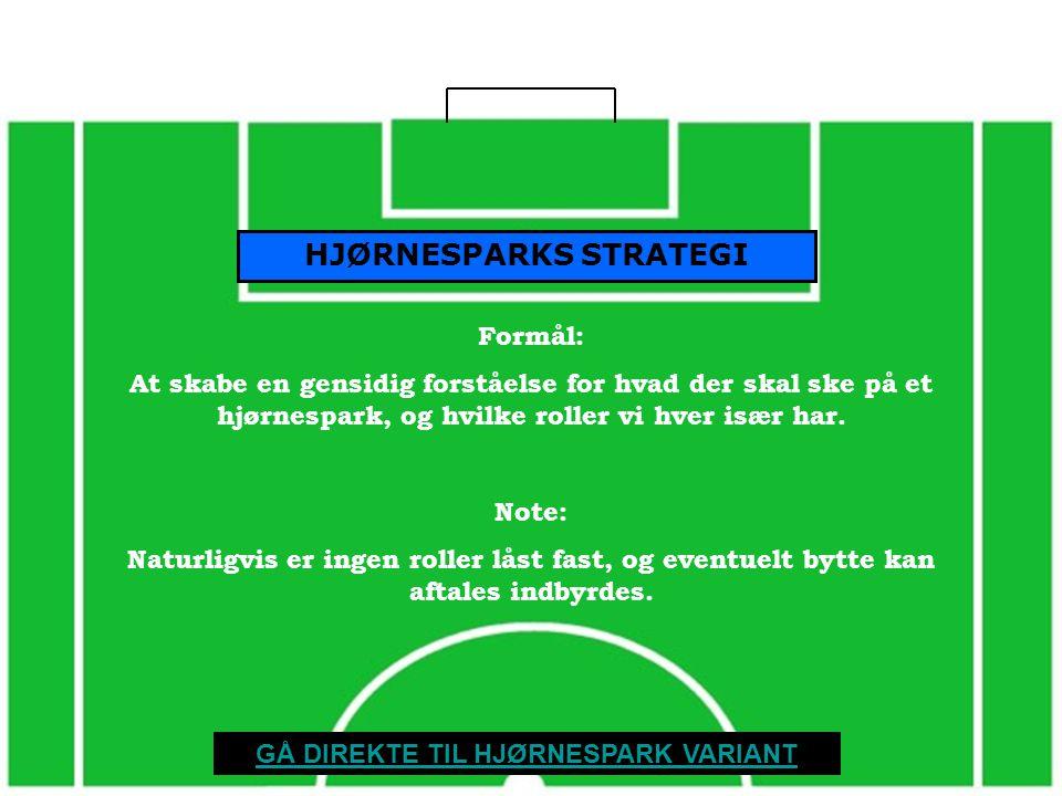 HJØRNESPARKS STRATEGI GÅ DIREKTE TIL HJØRNESPARK VARIANT