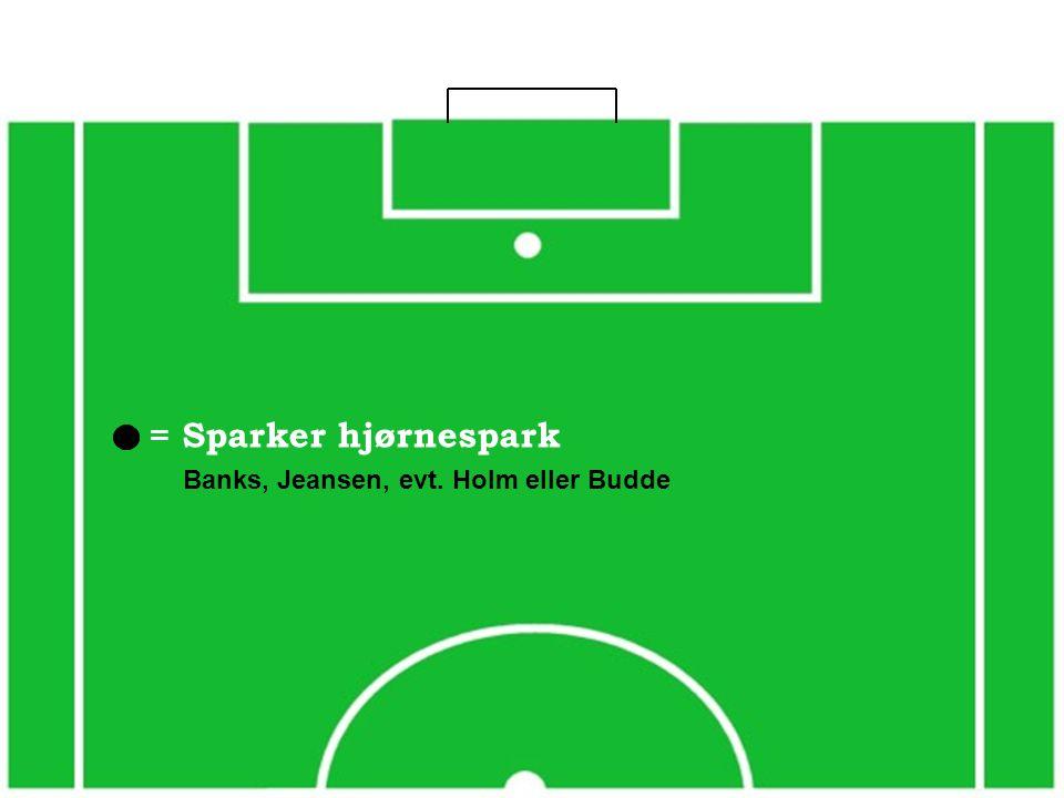 = Sparker hjørnespark Banks, Jeansen, evt. Holm eller Budde
