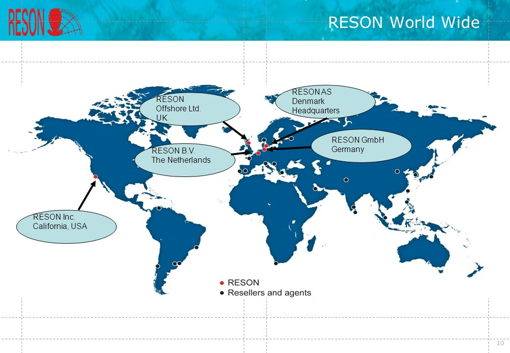 RESON World Wide RESON AS Denmark Headquarters RESON Offshore Ltd. UK