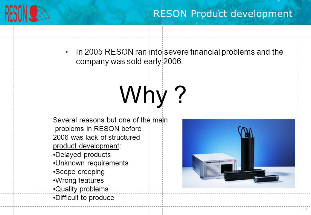 RESON Product development