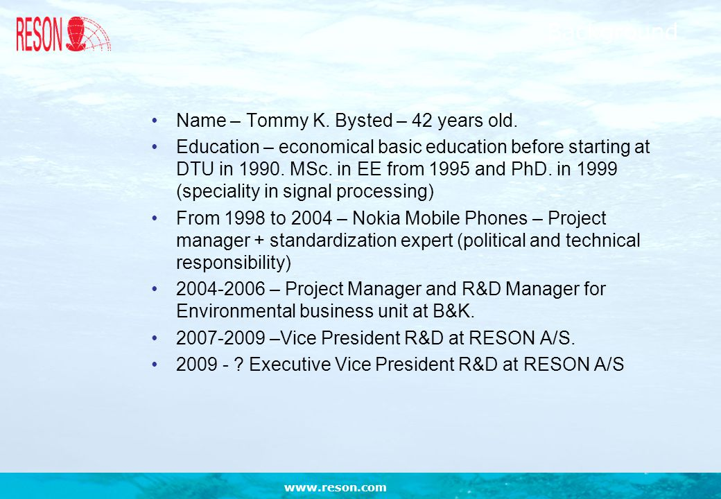 Background Name – Tommy K. Bysted – 42 years old.