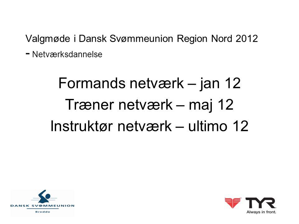 Valgmøde i Dansk Svømmeunion Region Nord 2012 - Netværksdannelse