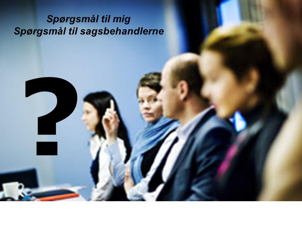 Spørgsmål til sagsbehandlerne