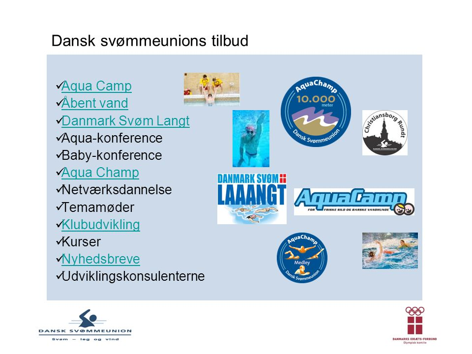 Dansk svømmeunions tilbud