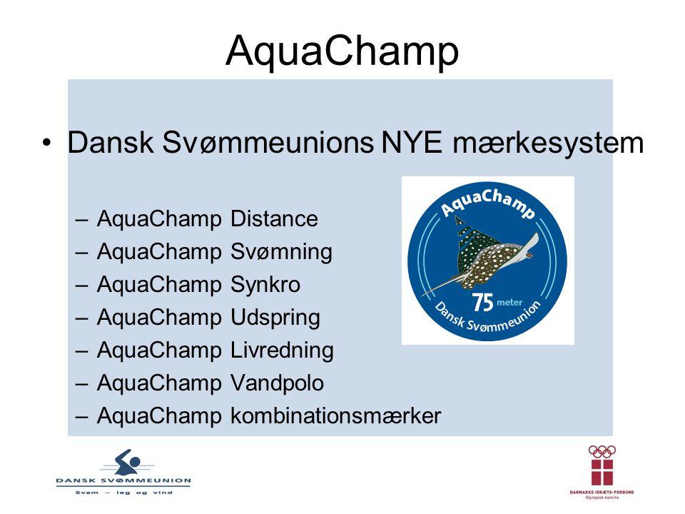AquaChamp Dansk Svømmeunions NYE mærkesystem AquaChamp Distance