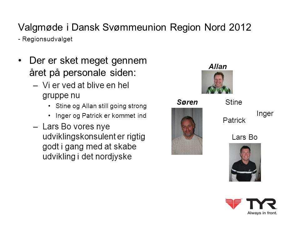 Valgmøde i Dansk Svømmeunion Region Nord 2012 - Regionsudvalget