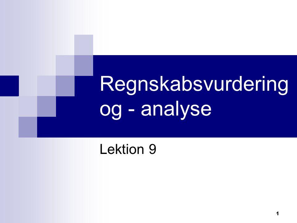 Regnskabsvurdering og - analyse