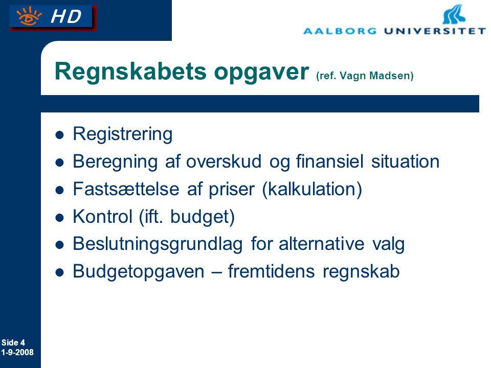 Regnskabets opgaver (ref. Vagn Madsen)