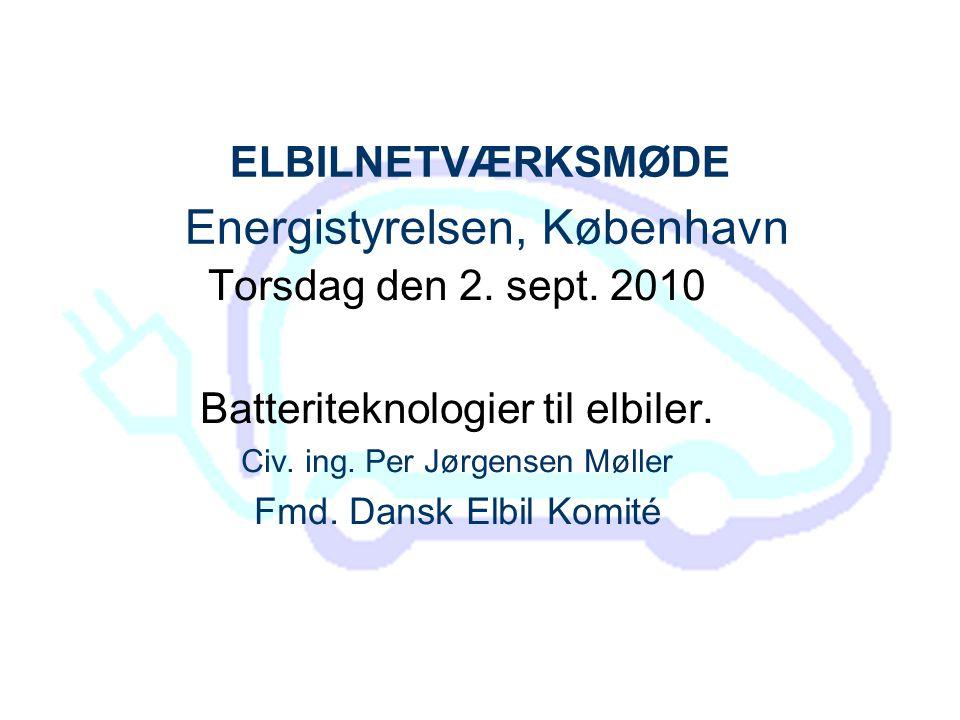 ELBILNETVÆRKSMØDE Energistyrelsen, København