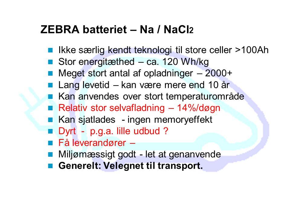 ZEBRA batteriet – Na / NaCl2