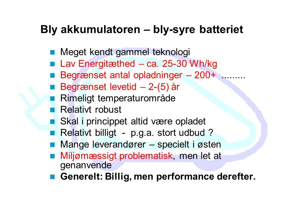Bly akkumulatoren – bly-syre batteriet