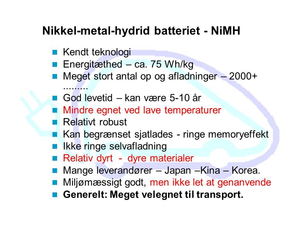 Nikkel-metal-hydrid batteriet - NiMH