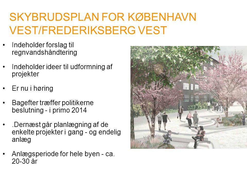 SKYBRUDSPLAN FOR KØBENHAVN VEST/FREDERIKSBERG VEST