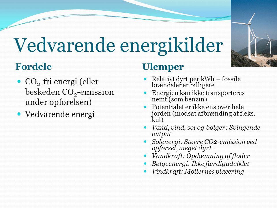 Vedvarende energikilder