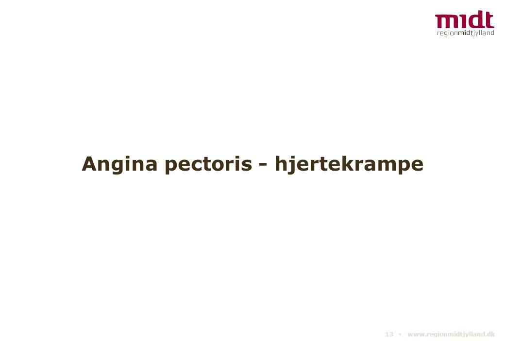 Angina pectoris - hjertekrampe