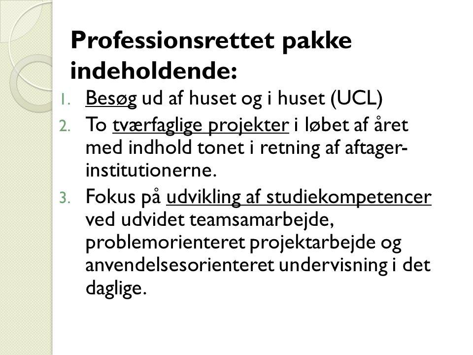 Professionsrettet pakke indeholdende: