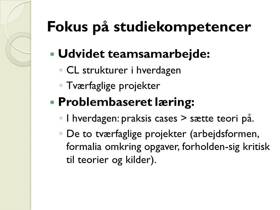 Fokus på studiekompetencer