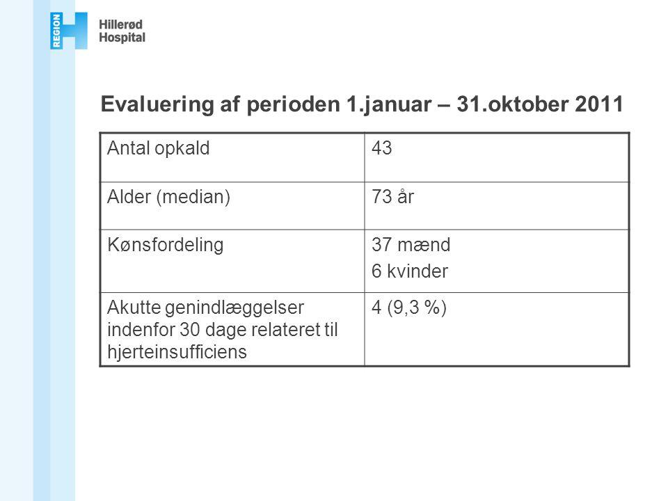 Evaluering af perioden 1.januar – 31.oktober 2011