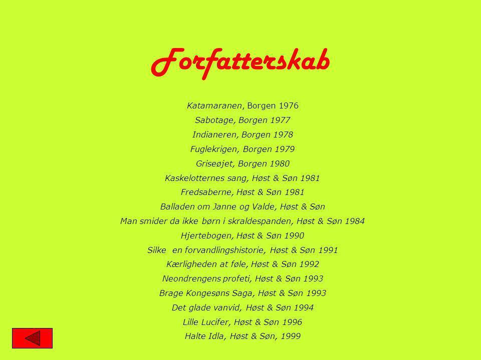 Forfatterskab Katamaranen, Borgen 1976 Sabotage, Borgen 1977