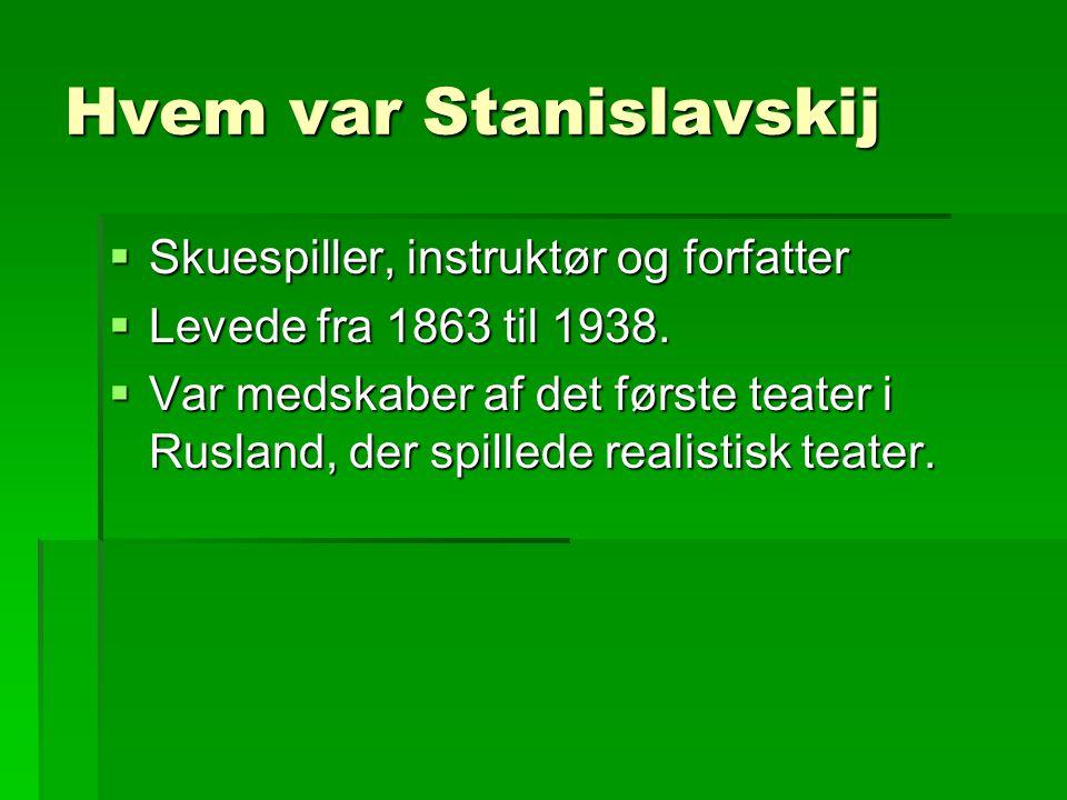 Hvem var Stanislavskij