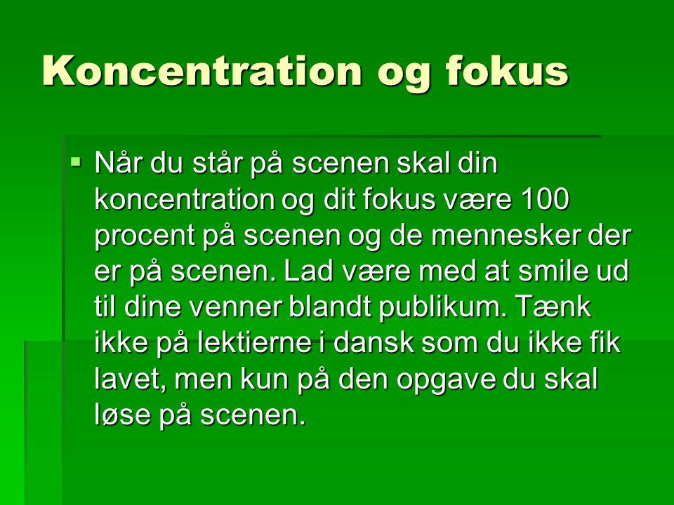 Koncentration og fokus
