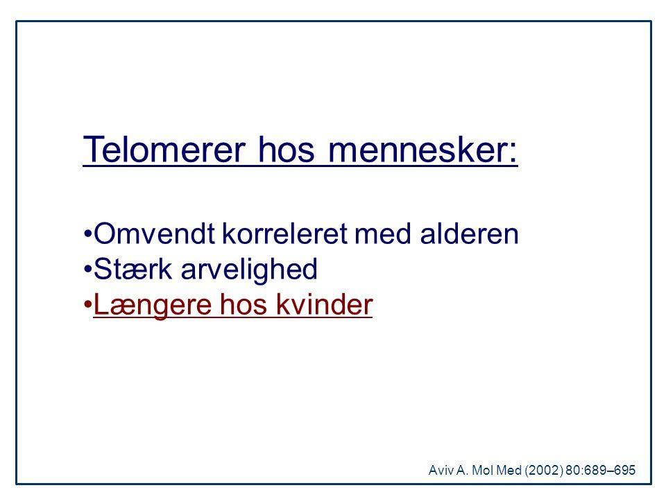 Telomerer hos mennesker: