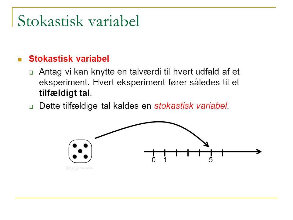 Stokastisk variabel Stokastisk variabel