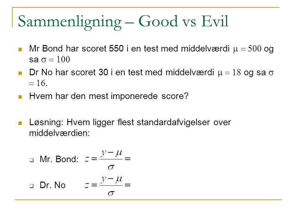 Sammenligning – Good vs Evil