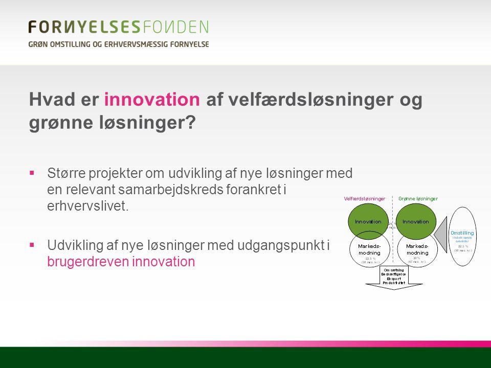 Hvad er innovation af velfærdsløsninger og grønne løsninger