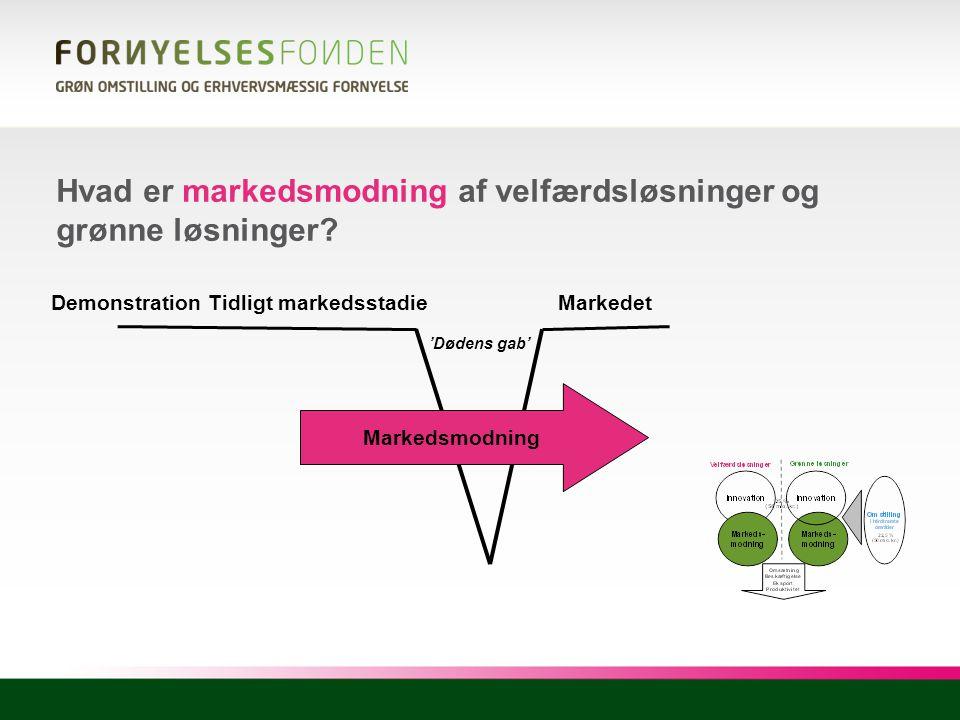 Hvad er markedsmodning af velfærdsløsninger og grønne løsninger
