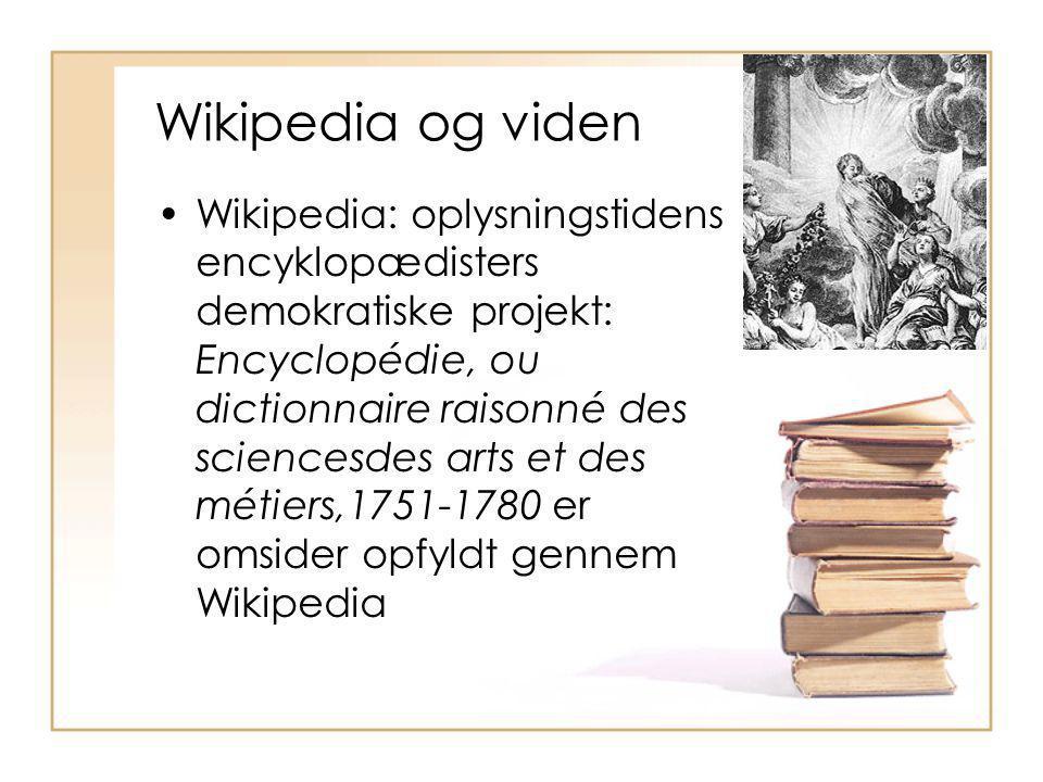 Wikipedia og viden