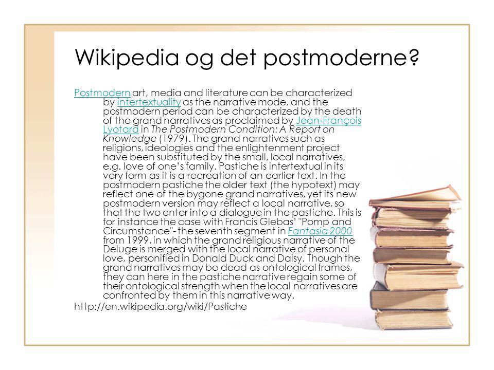 Wikipedia og det postmoderne