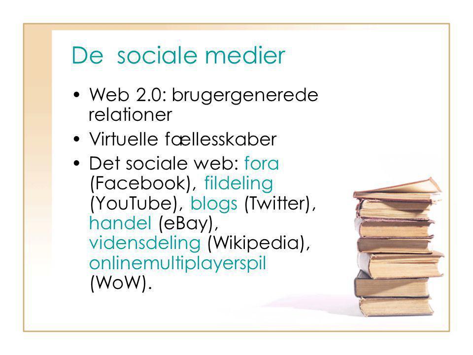 De sociale medier Web 2.0: brugergenerede relationer