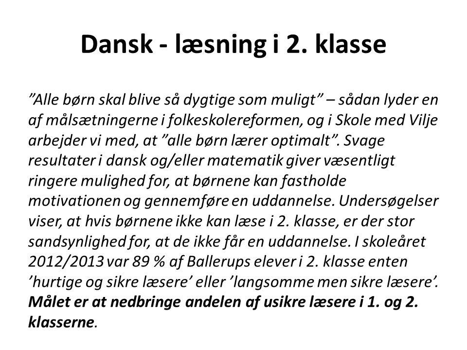 Dansk - læsning i 2. klasse